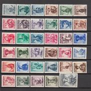 1934 - 1952  MICHEL  Nº 893 / 926 , 978 / 980 ,    / * /