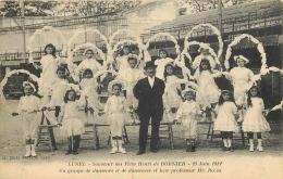 34-460  CPA  Original  LUNEL  Souvenir Des Fetes Henri De BORNIER 23 Juin 1912 Groupe De Danseurs Et Professeur - Lunel