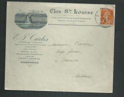 Enveloppe Illustrée Clos Sainte Louise à Narbonne (Aude).thème De La Vigne Et Oenologie - Vins & Alcools