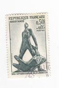 20 Eme Anniversaire De La RESISTANCE - 0,50 Francs - Oblitérés