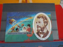 Afrique > Guinée-Bissau > Neuf > Alexandre Graham Bell 1847-1922 > Feuille - 1976 Poste Aérienne état Moyen !!