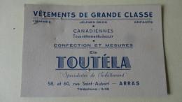 """""""Toutela """" Vetements De Grande Classe Arras Pas De Calais - Visiting Cards"""