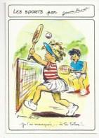 ILLUSTRATEUR : GERMAINE BOURET - LES SPORTS - TENNIS - JE L'AI MANQUÉE  -CPM 1989 10.5 X 15 - Bouret, Germaine