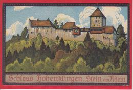 SCHLOSS HOHENKLINGEN, STEIN AM RHEIN, KÜNSTLERLITHO VON L. NOHL - SH Schaffhouse