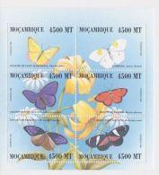 Mozambique - Butterflies, 2000 - Sc 1368 Sheetlet Of 6 MNH