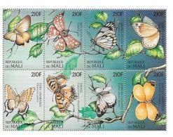 Mali - Butterflies, 1997 - Sc 865 Sheetlet Of 8 MNH