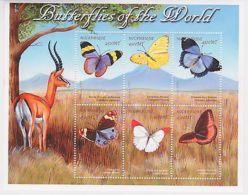 Mozambique - Butterflies Of The World, 2000 - Sc 1369 Sheetlet Of 6 MNH