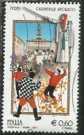 ITALIA REPUBBLICA ITALY REPUBLIC 2011 FOLCLORE ITALIANO CARNEVALE STORICO DI IVREA BATTAGLIA DELLE ARANCE FOLKLORE USATO - 6. 1946-.. Republic