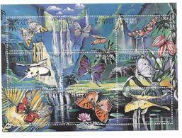 Mali - Butterflies, 1997 - Sc 864 Sheetlet Of 9 MNH