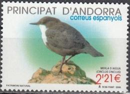 Andorre Espagnol 2005 Yvert 317 Neuf ** Cote (2015) 9.00 Euro Oiseau Cincle Plongeur