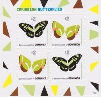 Dominica - Caribbean Butterflies, 2013 - Sc 2797 Sheetlet Of 4 MNH