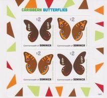 Dominica - Caribbean Butterflies, 2013 - Sc 2798 Sheetlet Of 4 MNH