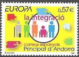 Andorre Espagnol 2006 Yvert 323 Neuf  ** Cote (2015) 2.30 Euro Europa CEPT L´intégration
