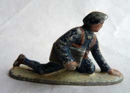FIGURINE QUIRALU CHASSEURS ALPINS MITRAILLEUR Avec Caisse De Munitions - ALUMINIUM - Quiralu