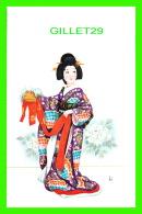 JAPON -  DAME AVEC SON COSTUME - - Japon