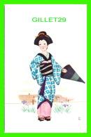 JAPON -  DAME AVEC SON COSTUME & PARAPLUIE - - Japon