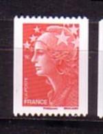 2008-N°4240** MARIANNE DE BEAUJARD CHIFFRE A DROITE VU DE DOS - France