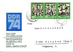 RDA. N°1675A De 1974 Sur Enveloppe Commémorative Ayant Circulé. DDR'74.