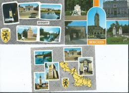 3 CPM - Bergues  -  Multivues - Bergues