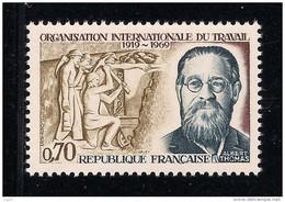 FRANCE 1969 Un Timbre (1) YT N° 1600** Cinquantenaire De L´Organisation Internationale Du Travail Albert Thomas - France