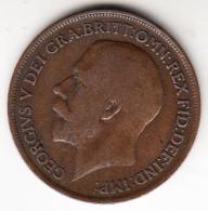 GRAN BRETAÑA 1919  ONE PENNY GEORGIUS V (UN PENIQUE) .MBC   CN4368 - 1902-1971 : Monedas Post-Victorianas