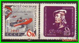 URRS  -  RUSSIA -- EUROPA  SELLOS AÑO 1961