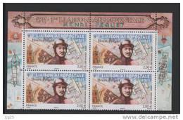 -FRANCE 2011-BLOC De Quatre (4) 1re Liaison Aeropostale Henri Pequet  PA N° 74** 2.00€ Tiré Du Feuillet CDF