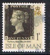 Isle Of Man SG442 1990 Penny Black 1p EB Good/fine Used [12/12563/25D]