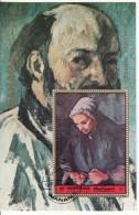 """Manama 1972 """"Autoritratto"""" -  Quadro Dipinto Da Cezanne Preobliterato Impressionismo Paintings Imperf. - Impressionismo"""