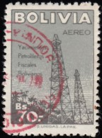 BOLIVIA - Scott # C183 Oil Derricks (*) / Used Stamp - Bolivia
