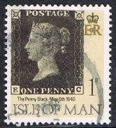 Isle Of Man SG442 1990 Penny Black 1p EC Good/fine Used [12/12564/25D]