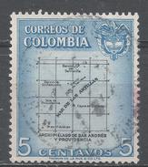 Colombia 1956. Scott #649 (U) Map * - Colombie
