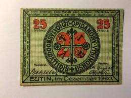 Allemagne Notgeld Eutin 25 Pfennig 1921 NEUF - [ 3] 1918-1933 : République De Weimar
