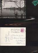 7931) BARI VISIONE PANORAMICA PANORAMA DAL MARE VIAGGIATA 1962 - Bari