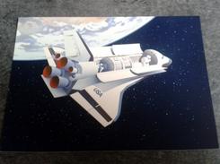 """3 Timbres Suisses Pro Aéro Carte Illustrée Affranchie """"space Shuttle Spacelab"""" Bureau Philatéliste De Genève"""