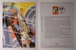 FETE DU TIMBRE 2004 - MICKEY - DISNEY - Document Philatélique Avec Timbre Et Cachet 1er Jour