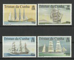 TRISTAN DA CUNHA  1998  MARITIME HERITAGE,SHIPS  SET MNH - Boten