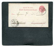 Hungary Lettercard 1888