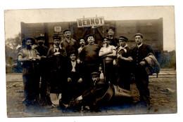 Gare Wagon Allemand Panneau Bernot ? Aisne ? Ouvriers Chemineaux Chemin De Fer A Situer - Frankrijk