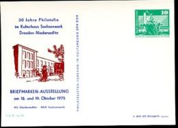 DDR PP16 D2/014 Privat-Postkarte SACHSENWERK Dresden-Niedersedlitz 1975