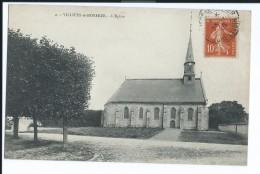 1178 - Villiers Le Morhier 2 L'Eglise Eglise - Semeuse 10c - Circulée Pour Paris Monnié 1916 - Saint-Pons-de-Mauchiens