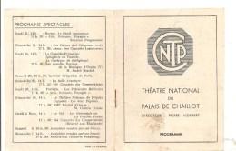 Programme Théatre National Du Palais Chaillot Présente Les Béatitudes De César Franck Le 7 Février 1943 - Programmes