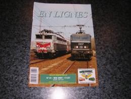 EN LIGNES Revue Ferroviaire N° 61 SNCB NMBS Chemins Fer Train Tram Trains Autos Ligne 55 Bocq Ciment Wagon - Railway & Tramway