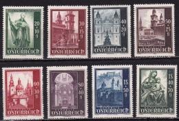 Osterreich /  Austria 1948 Restauration Of The Salzburger Church Complete MNH Set Mi 885 / 892