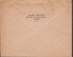 Great Britain VOLKART BROTHERS, LONDON 1936 Cover Brief Denmark EDVIII. Stamp (2 Scans) - Briefe U. Dokumente