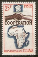 TCHAD   -   1964 .  Y&T N° 101 ** .  Coopération  /  Mains - Chad (1960-...)