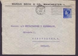 Great Britain MARIUS BECH & Co., MANCHESTER 1936 Cover Brief Denmark EDVIII. Stamp - Briefe U. Dokumente