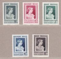 1951 Nr 863-67* Postfris Met Scharnier.Koningin Elisabeth.OBP 56.