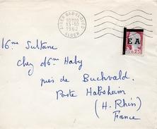 Algérie Timbre Surchargé EA Sur Lettre D'Alger Pour La France 1962