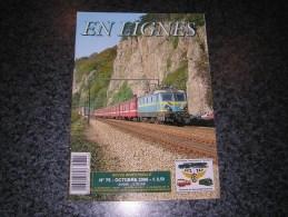 EN LIGNES Revue Ferroviaire N° 75 SNCB NMBS Chemins Fer Train Tram Ligne 128 Bocq Vapeur P8 64169 Wagon Tombereau Suède - Ferrocarril & Tranvías